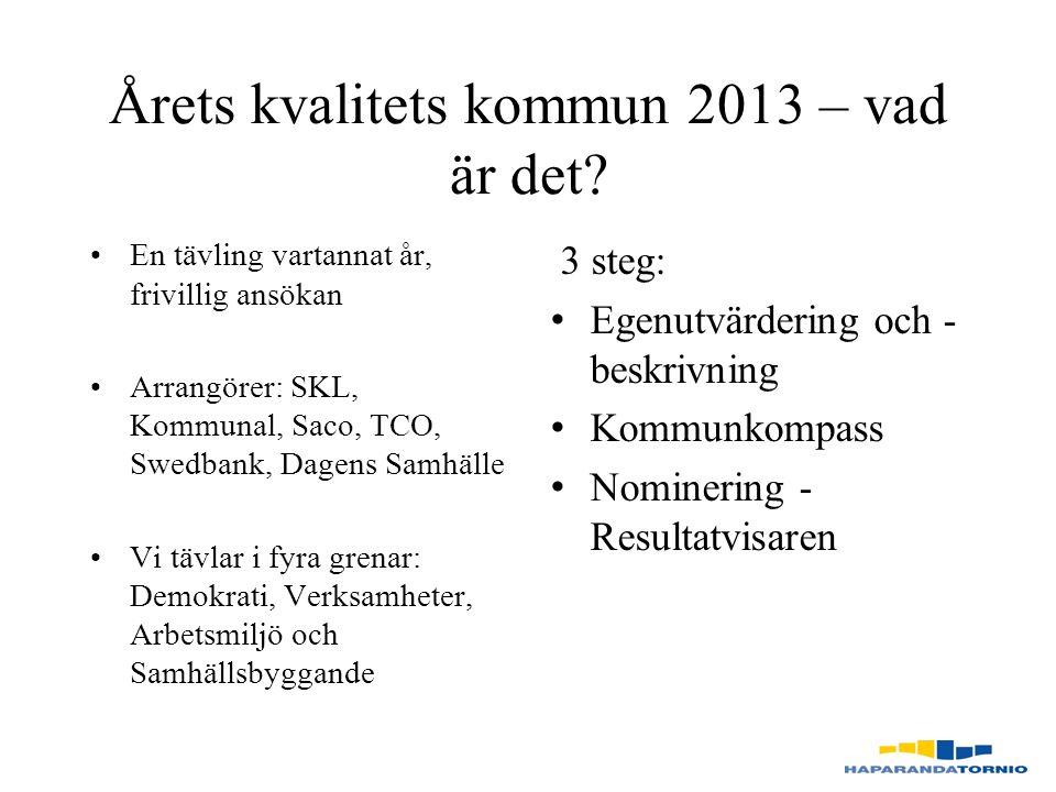 Årets kvalitets kommun 2013 – vad är det.