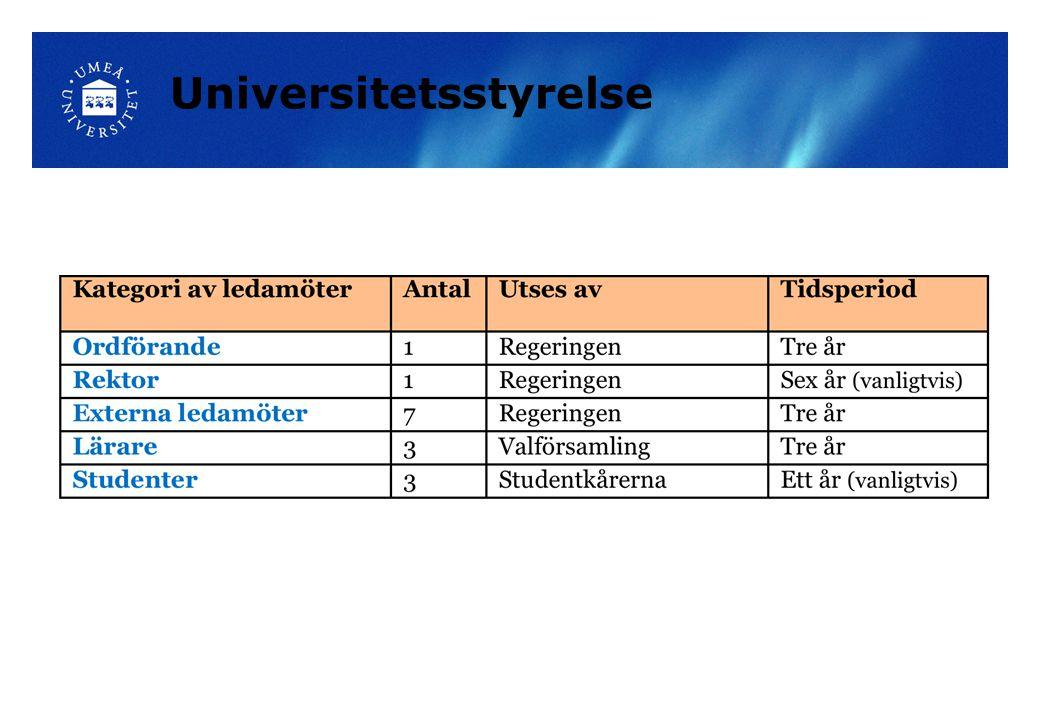 Lena Gustafsson Kjell JonssonMarianne Sommarin Agneta Marell Lars LustigSiv Olofsson Anders Fällström Universitetsledningen