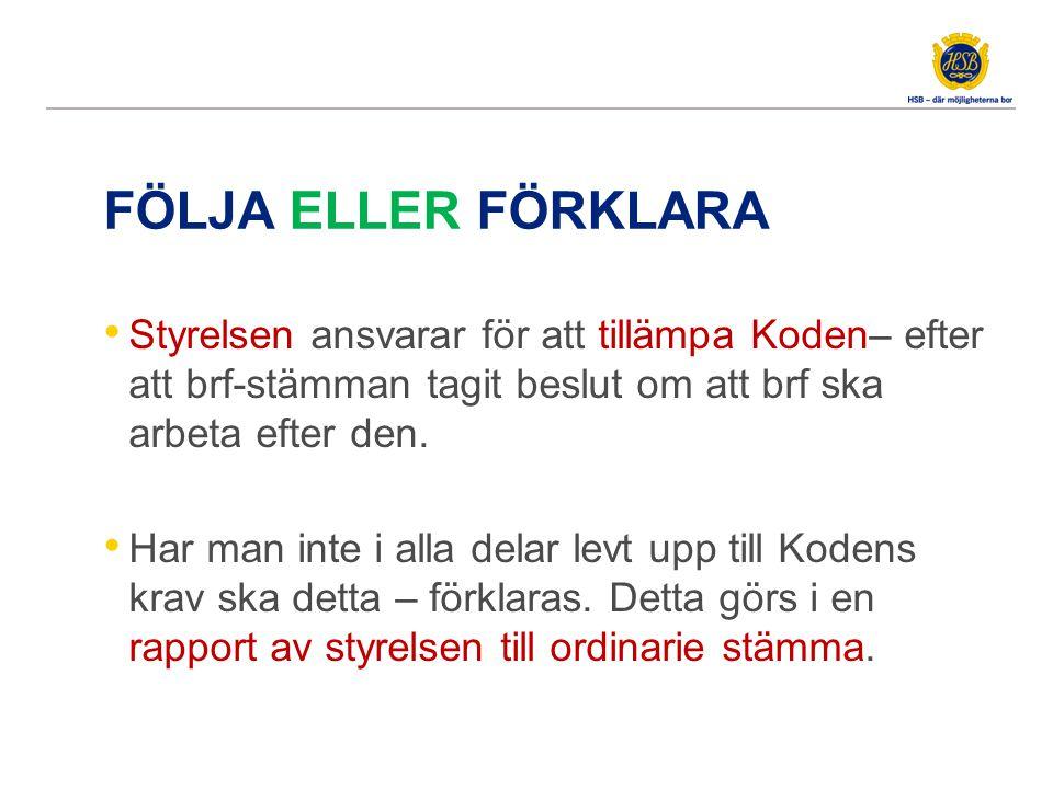 HSB Riksförbunds stämma antog Kod för brf vid stämman 2013-05-22--23.