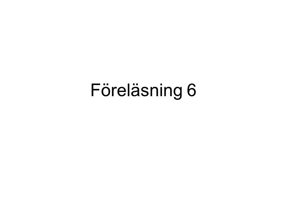 Exempel (felhantering) void main() { // division med noll.