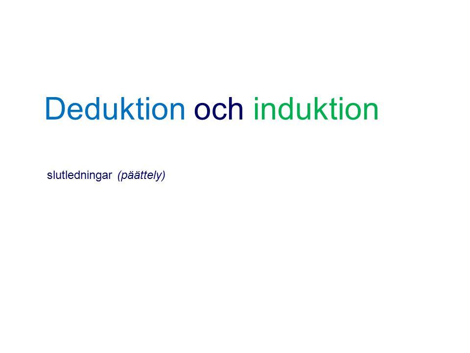 Deduktion och induktion slutledningar (päättely)