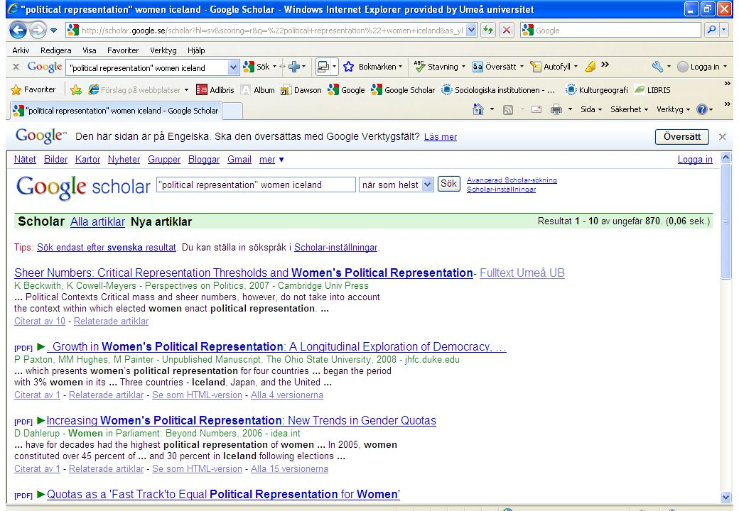 Portaler inriktade mot statsvetenskap/politik http://www.politicalresources.net/ http://www.intute.ac.uk/socialsciences/politics/