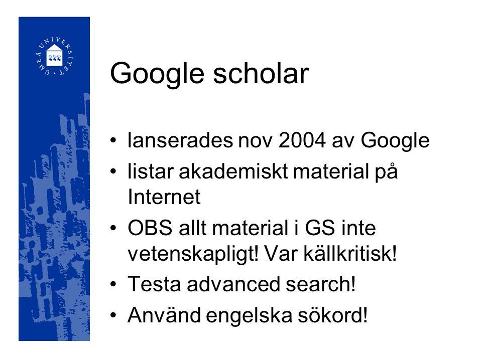 Artikelsök Innehåller artiklar från över 550 svenska tidskrifter och ett 15-tal dagstidningar Många populärvetenskapliga tidskrifter, få vetenskapliga tidskrifter 1979-
