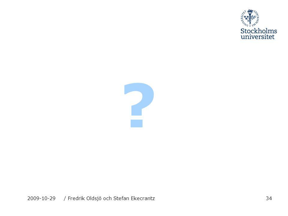 342009-10-29/ Fredrik Oldsjö och Stefan Ekecrantz ?