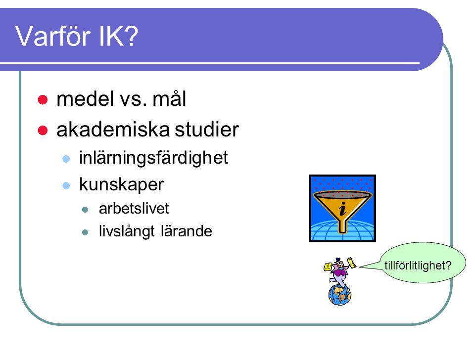 Varför IK.medel vs.