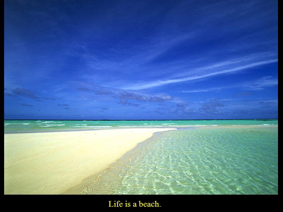 Life is a beach.