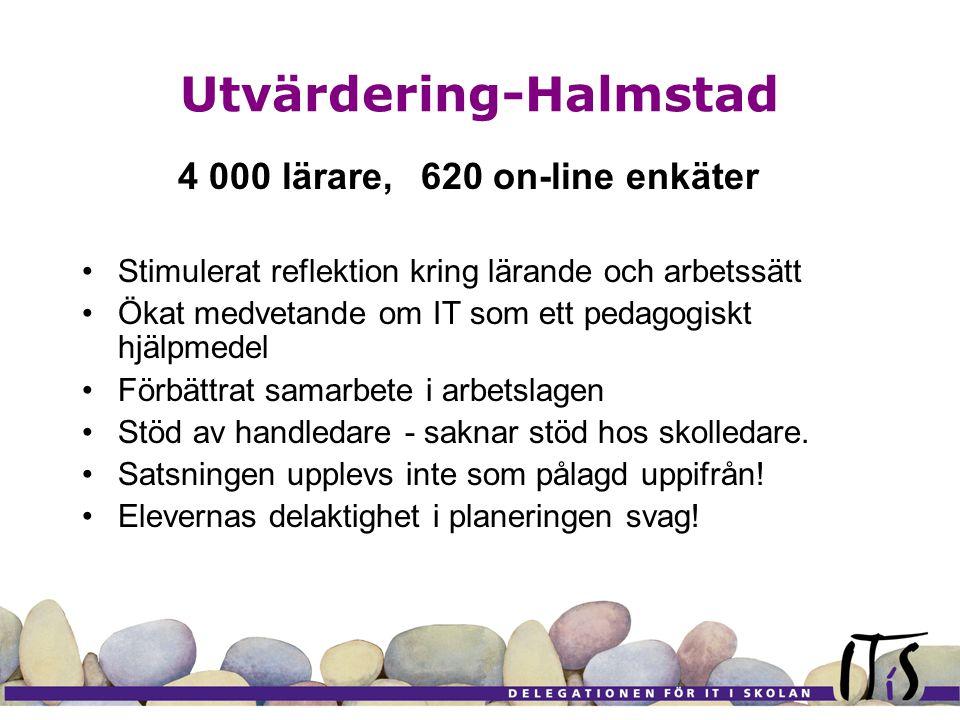 Utvärdering-Jönköping Kvalitativ intervjuundersökning 24 arbetslag (6 är redovisade hittills) Förändrade och varierade arbetssätt Positivt mottagen kompetensutvecklingsmodell - formellt lärande (inom utb.