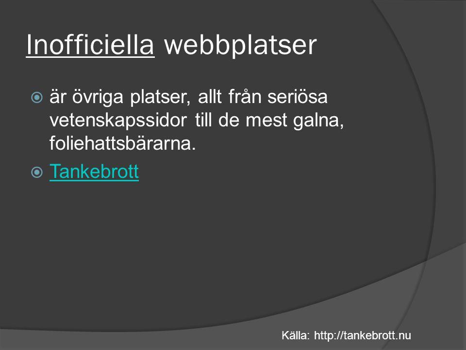 Tendens (kontrollera författaren)  Vem står bakom webbplatsen.