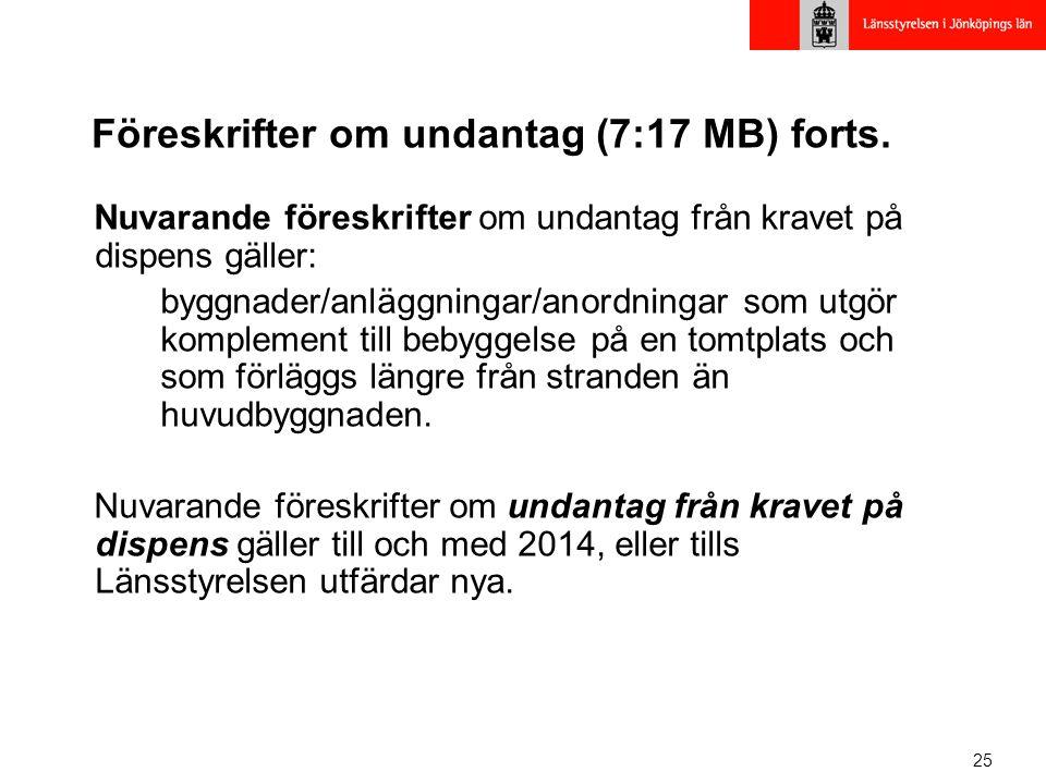 25 Föreskrifter om undantag (7:17 MB) forts.