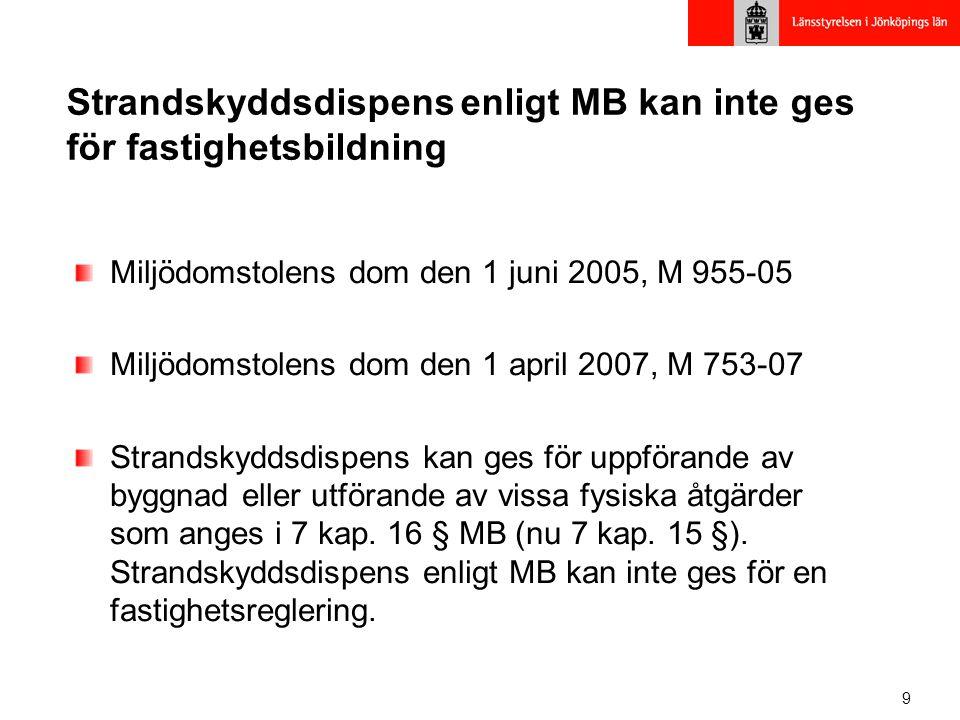 10 Generella undantag från förbuden (7:16 MB) byggnader, anläggningar m.m.