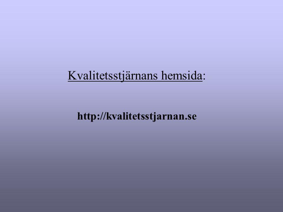 Kvalitetsstjärnans hemsida: http://kvalitetsstjarnan.se