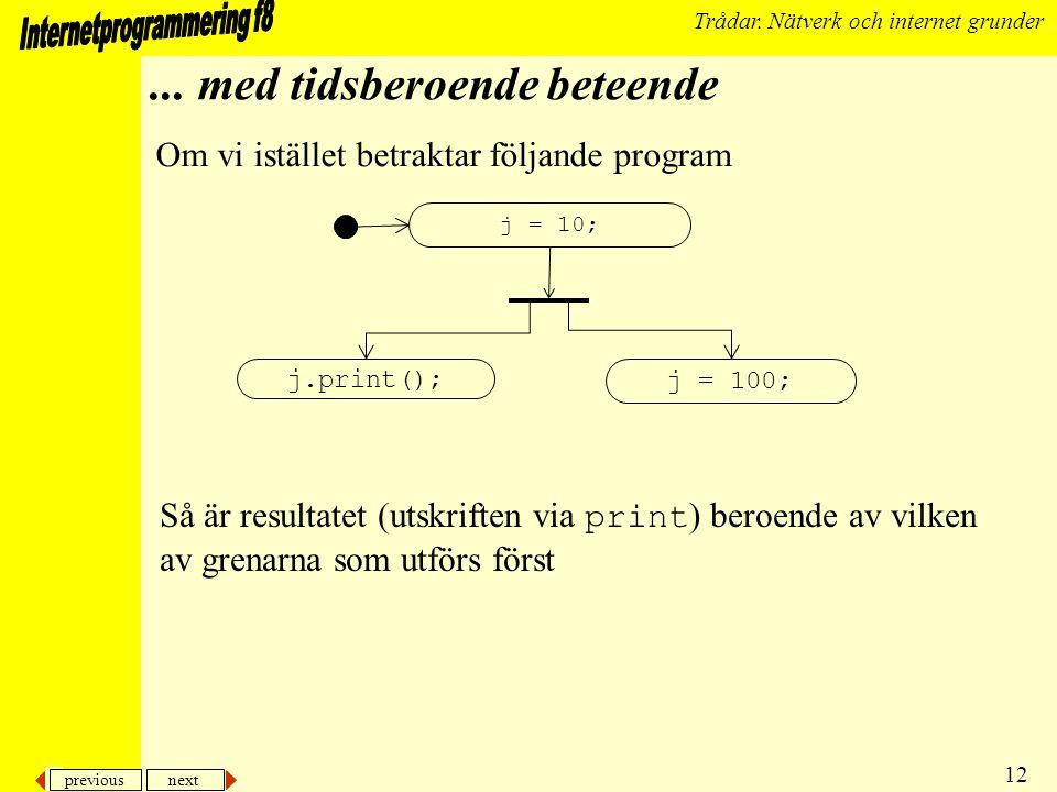 previous next 12 Trådar. Nätverk och internet grunder...