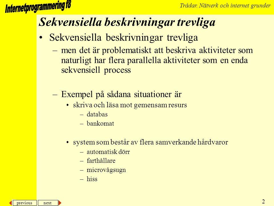 previous next 3 Trådar.Nätverk och internet grunder...