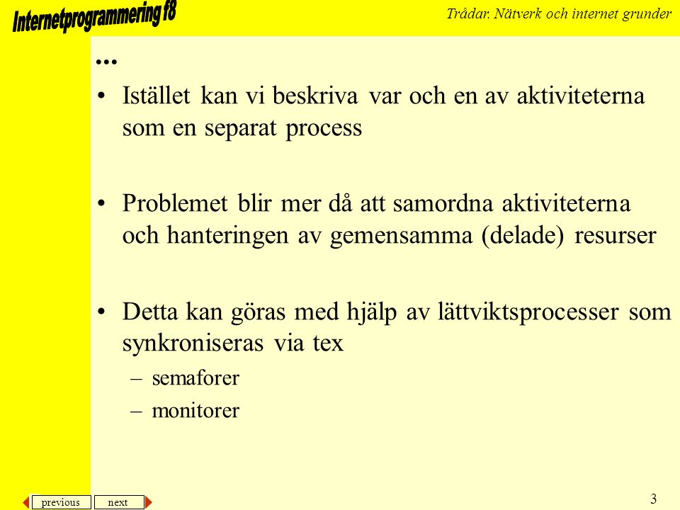 previous next 24 Trådar.