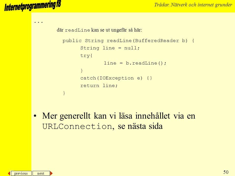previous next 50 Trådar. Nätverk och internet grunder...