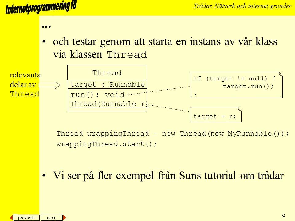 previous next 10 Trådar.
