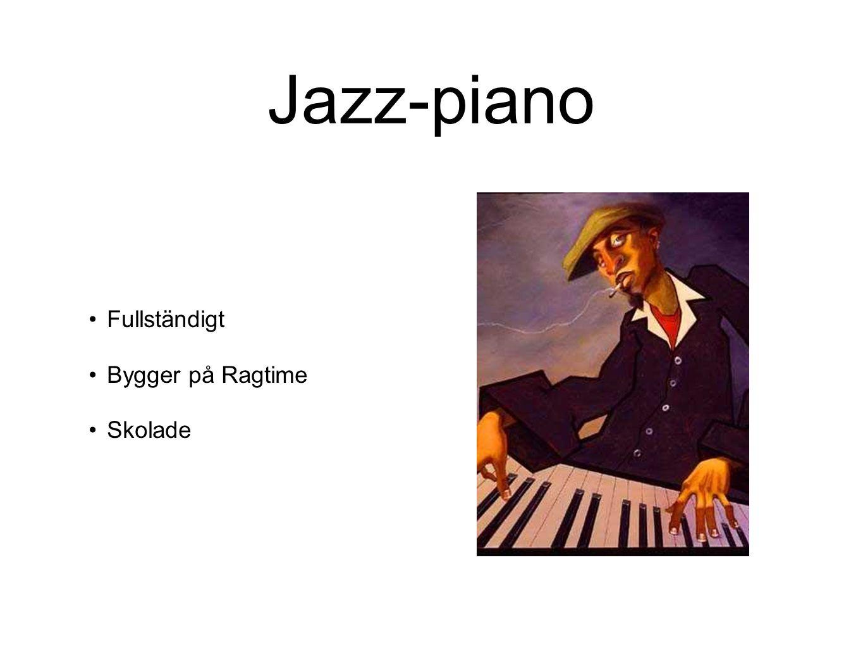 Jazz-piano Fullständigt Bygger på Ragtime Skolade