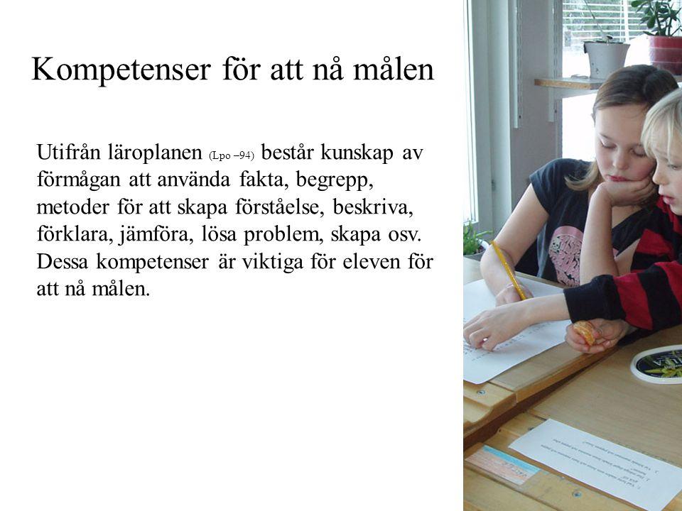 Mål år 2 svenska
