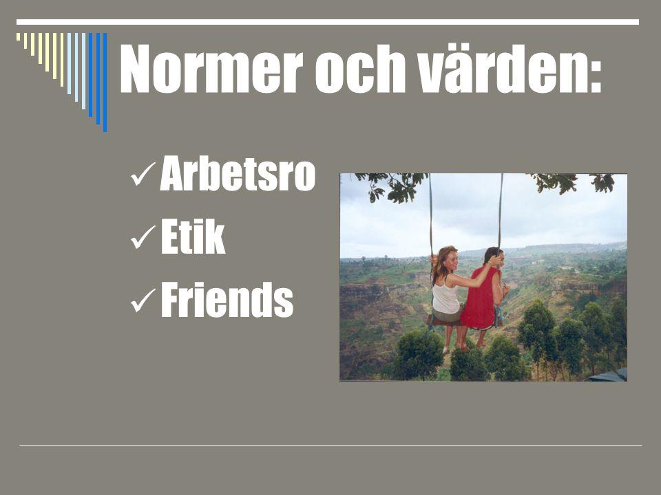 Arbetsro Etik Friends Normer och värden: