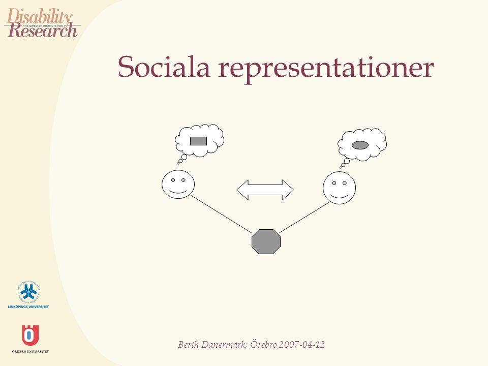 Berth Danermark, Örebro 2007-04-12 Sociala representationer