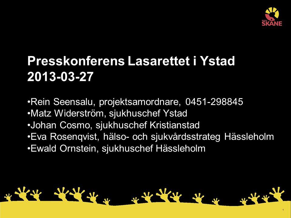 2 Ortopedi i östra Skåne Utveckla vården i östra Skåne för patienter med akuta ortopediska sjukdomstillstånd för att få ännu bättre kvalitet 2