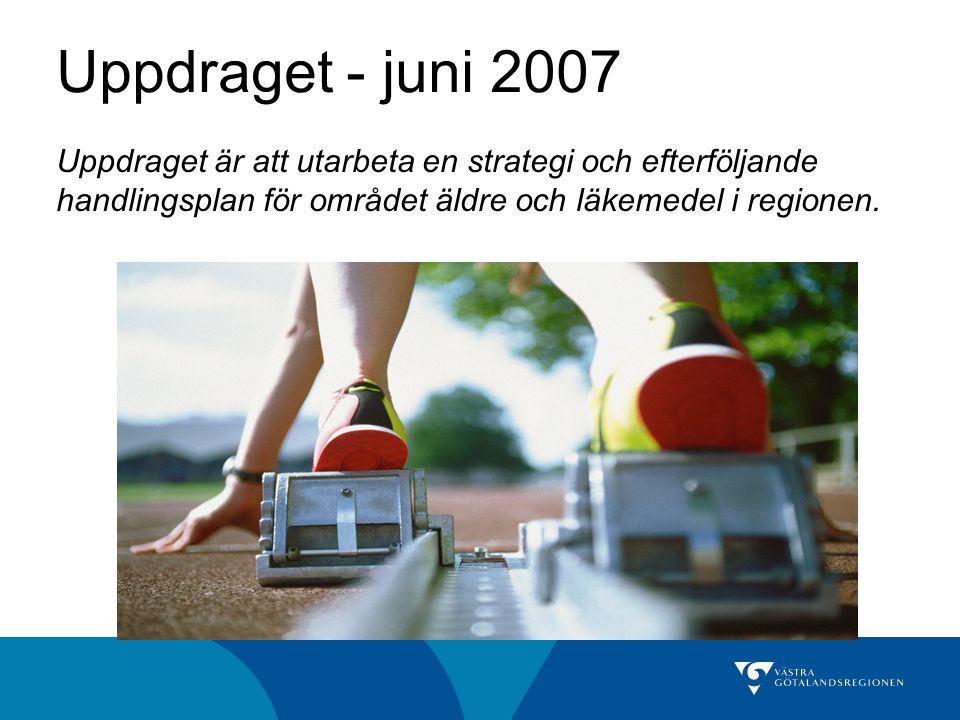 Ett arbete i två etapper Strategi äldre och läkemedel Fastställd i Hälso- och sjukvårdsutskottet 16 april 2008 Handlingsplan äldre och läkemedel Fastställd i Hälso- och sjukvårdsutskottet 12 november 2008