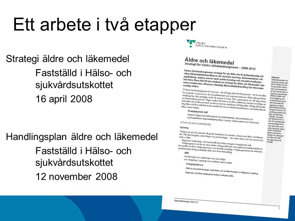 Västra Götalandsregionens målbild för äldres läkemedelsbehandling Högsta möjliga livskvalitet genom en ändamålsenlig, dokumenterad och kostnadseffektiv läkemedelsbehandling i samsyn mellan patient och förskrivare.