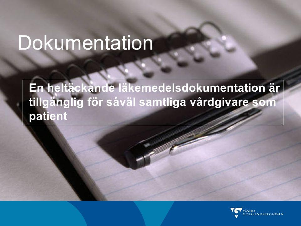 Utvecklad läkemedelsdokumentation Indikation Duration Uppföljning