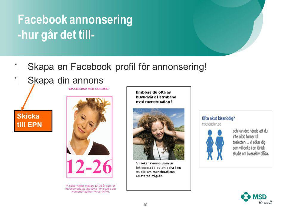 10 Facebook annonsering -hur går det till- Skapa en Facebook profil för annonsering.