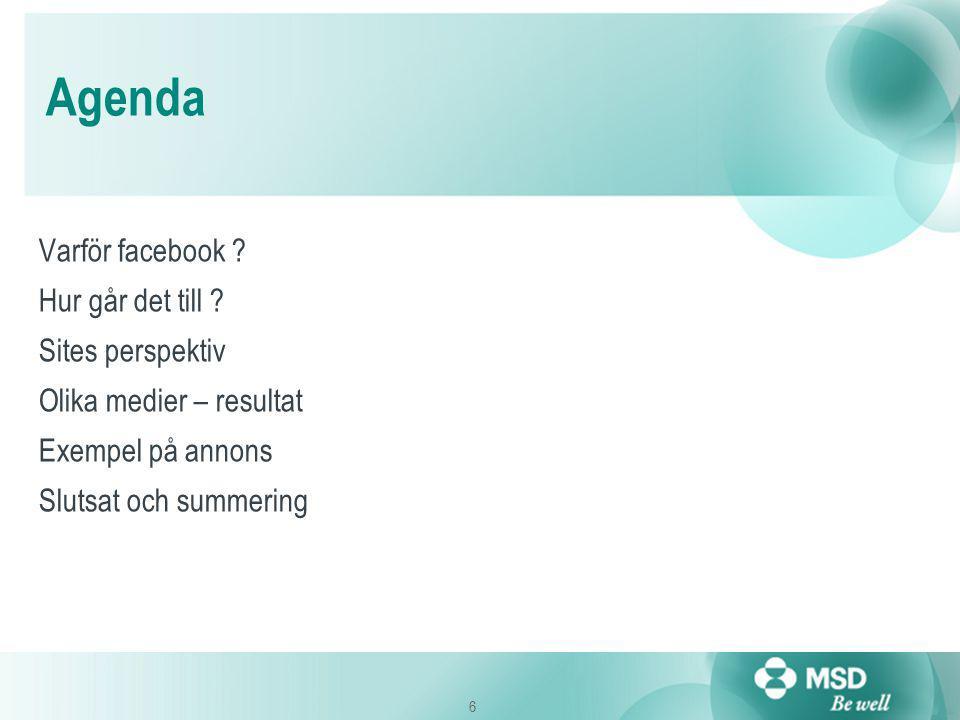 6 Agenda Varför facebook . Hur går det till .