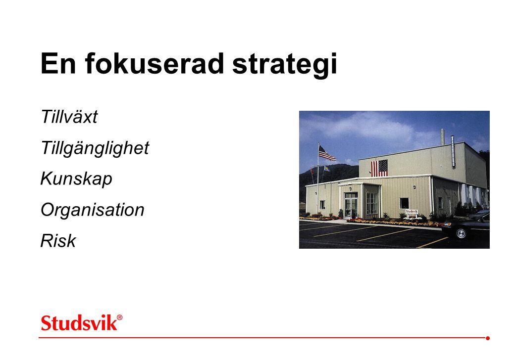 En fokuserad strategi Tillväxt Tillgänglighet Kunskap Organisation Risk