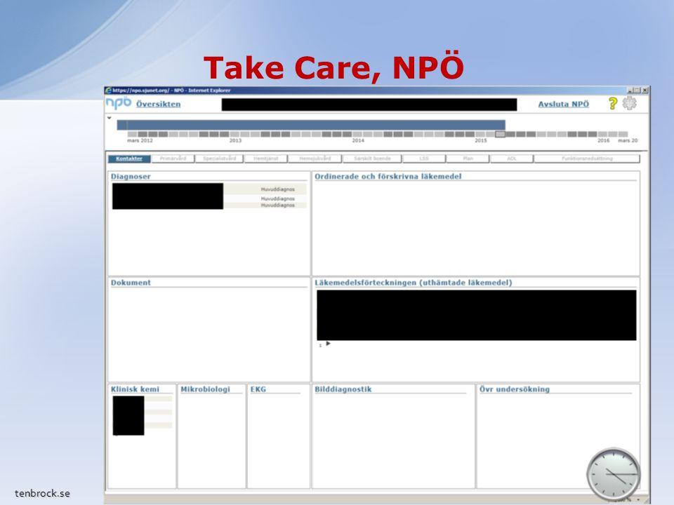 Take Care, fortsättning tenbrock.se Tillväxtkurva/Viktkurva Sökfunktion i Mätvärden / Lablista Tangentkommandon i gardiner Söka remissadresser manuellt (ö) Kopiera lab.beställning, ändra vidimeringsansvarig (ö) 8
