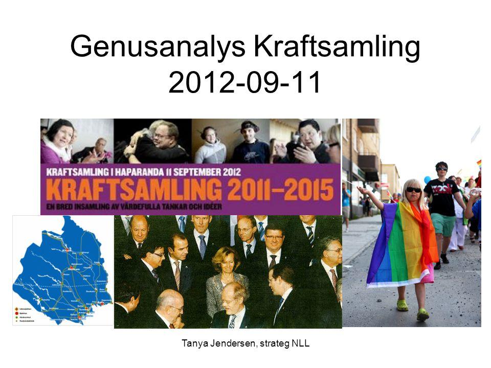 Tanya Jendersen, strateg NLL Genusanalys Kraftsamling 2012-09-11