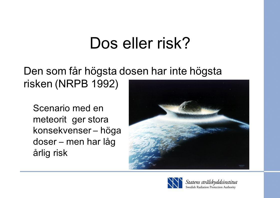 Kravuppfyllelse Risk target (10 -6 ) Environmental protection goals Safety require- ments: multiple barriers QA requirem.