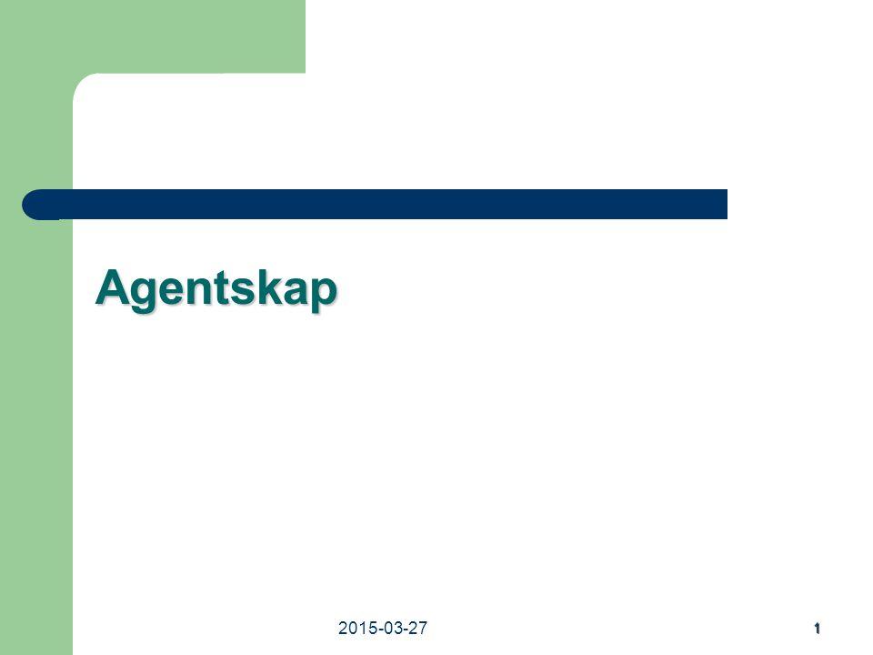 2015-03-27 1 Agentskap