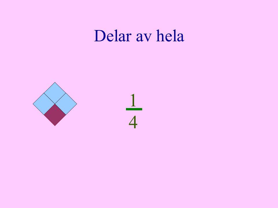 Enkel multiplikation Ett bråk kan multipliceras med ett tal.