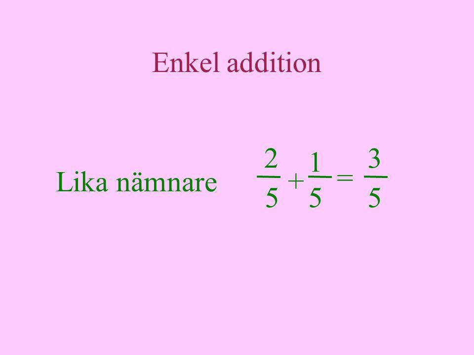 Mer addition 2 = 4 + 3 5 44 = 1 4 1