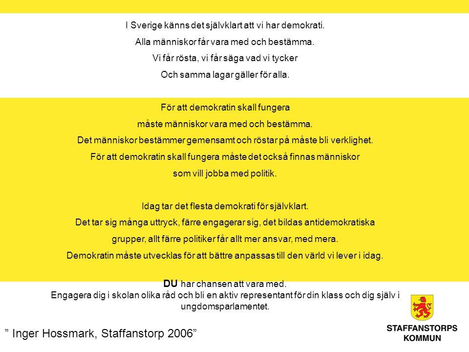 I Sverige känns det självklart att vi har demokrati.