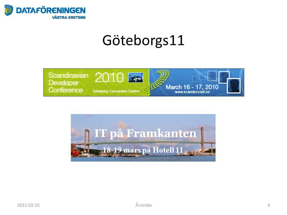 Göteborgs11 2011-03-10Årsmöte4 18-19 mars på Hotell 11