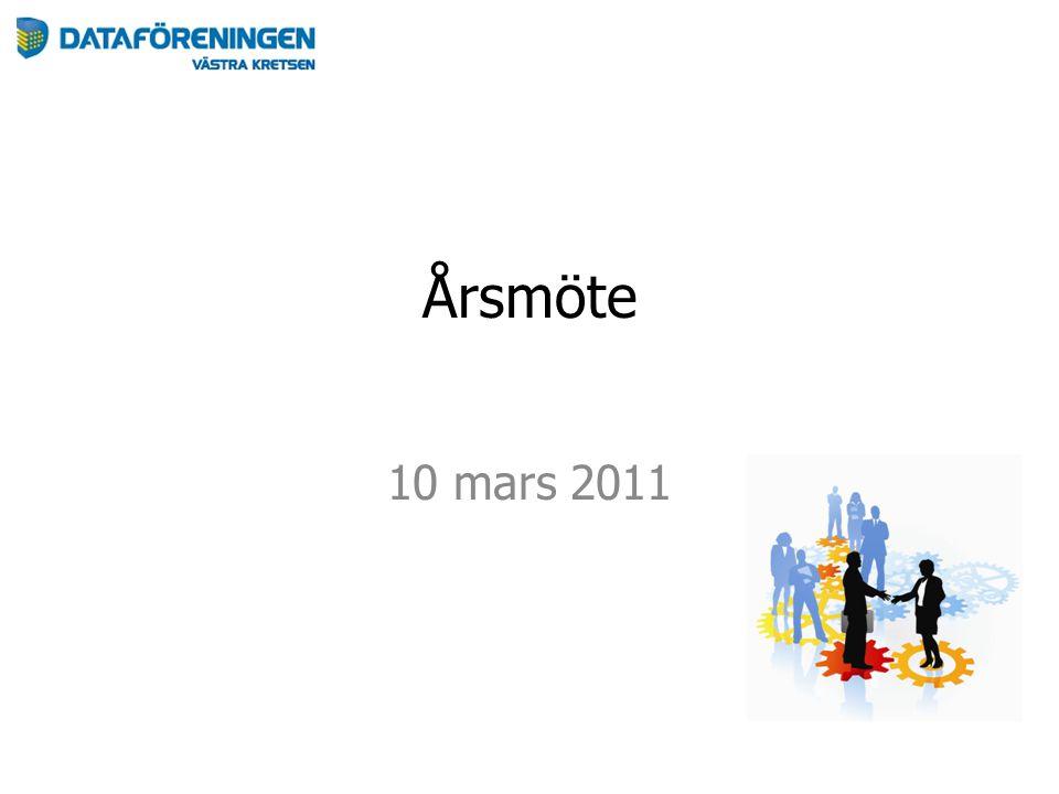 Årsmöte 10 mars 2011
