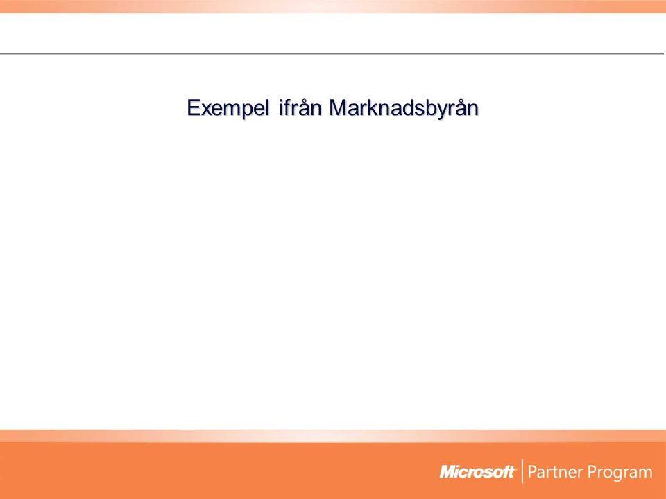 Exempel ifrån Marknadsbyrån