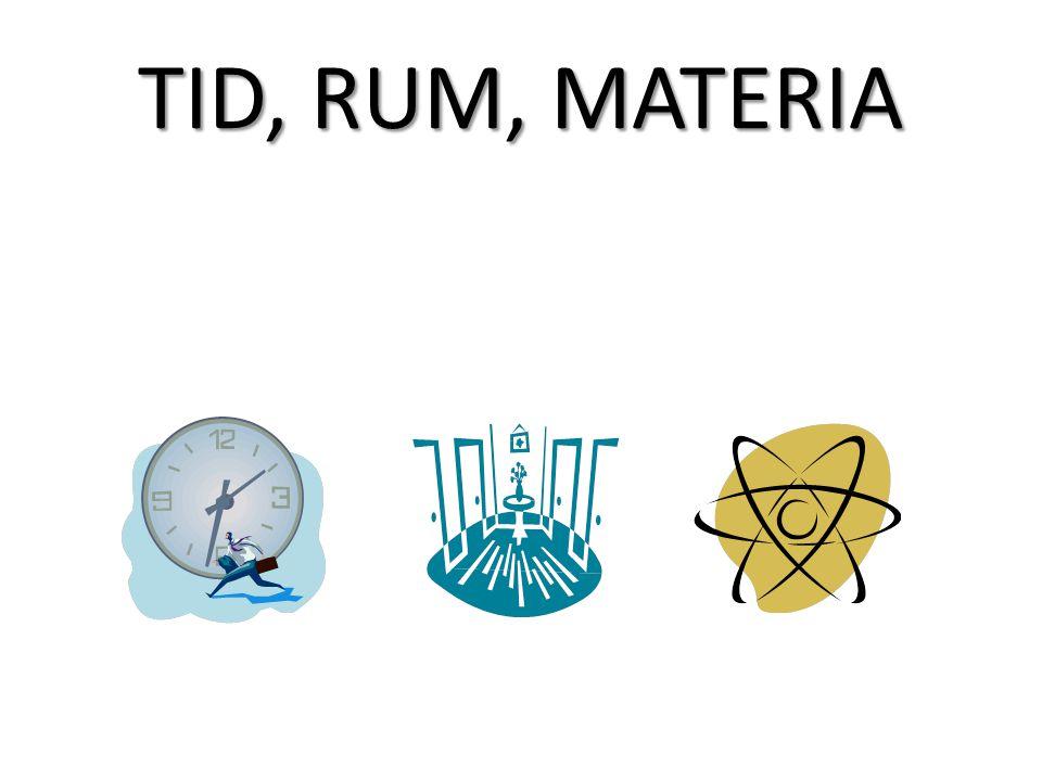 TID, RUM, MATERIA