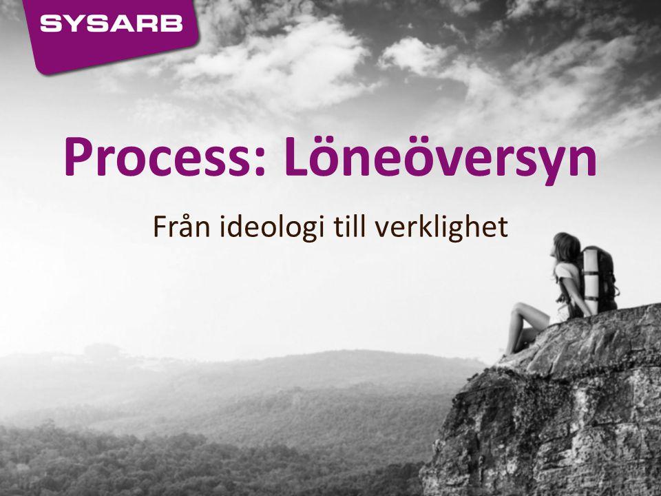 Process: Löneöversyn Från ideologi till verklighet