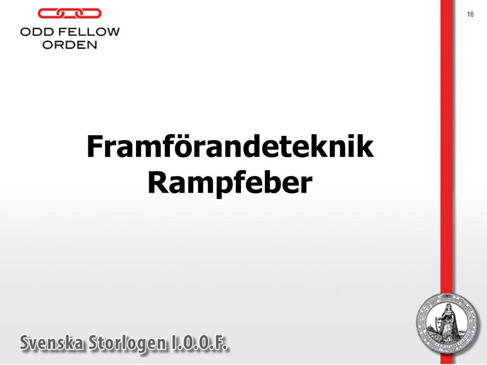 18 Framförandeteknik Rampfeber