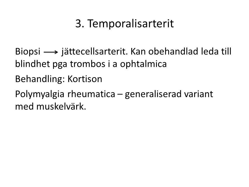 3.Temporalisarterit Biopsi jättecellsarterit.