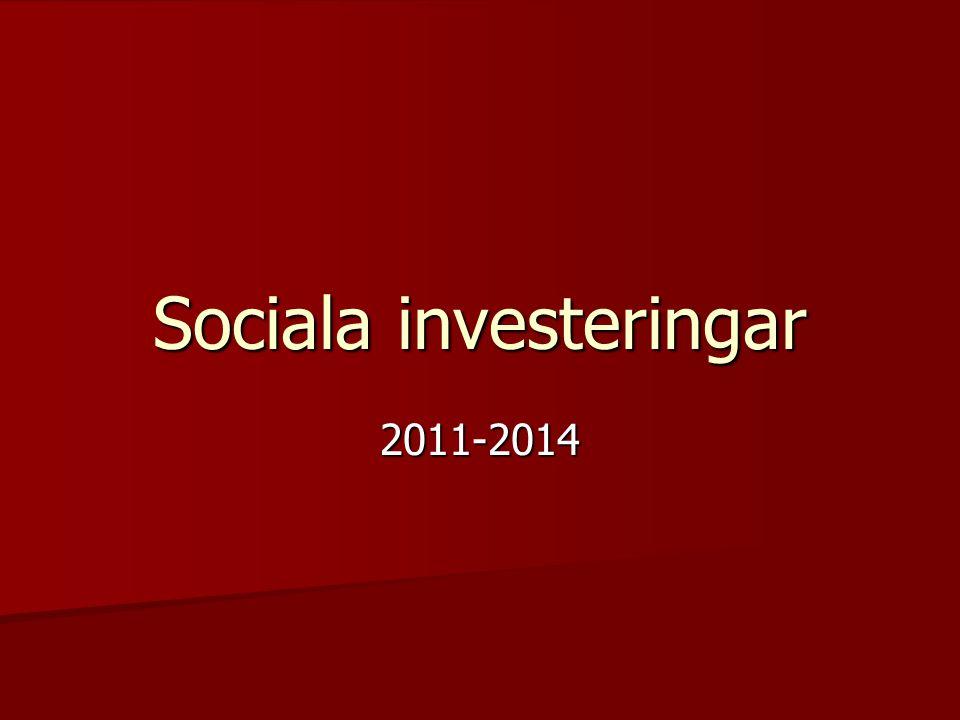 Sociala investeringar 2011-2014