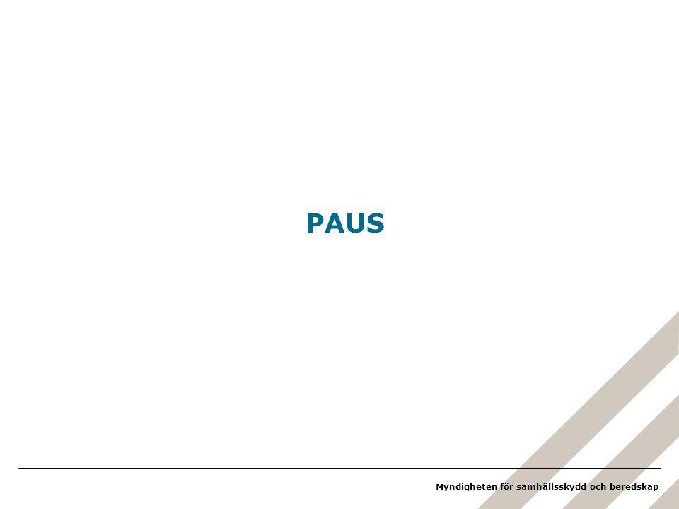 Myndigheten för samhällsskydd och beredskap PAUS