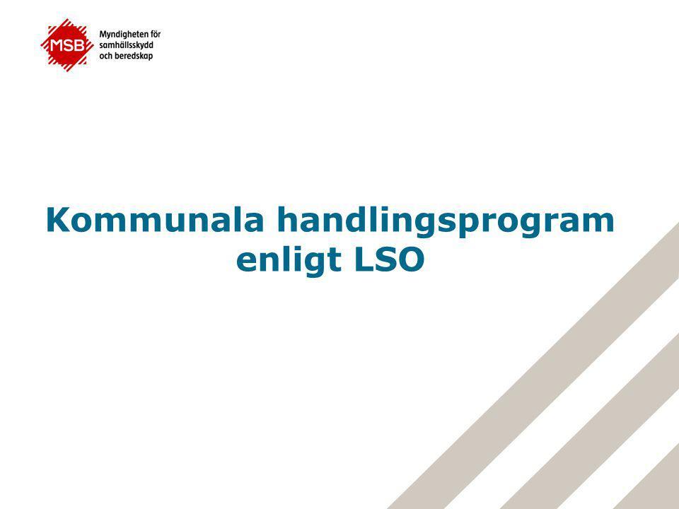 Kommunala handlingsprogram enligt LSO