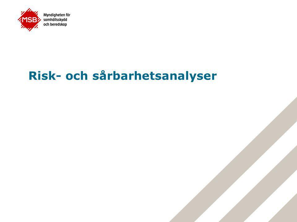 Risk- och sårbarhetsanalyser