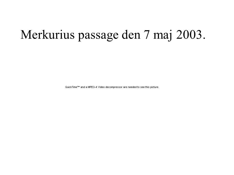 Merkurius passage den 7 maj 2003.
